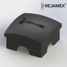 Poste con base placa para Reja de acero Rejamex