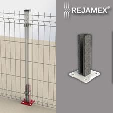 Base para Poste a Muro Con Inserto