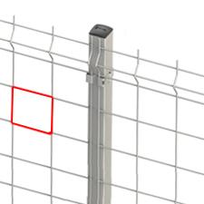 Poste con Base Soldada p/muro